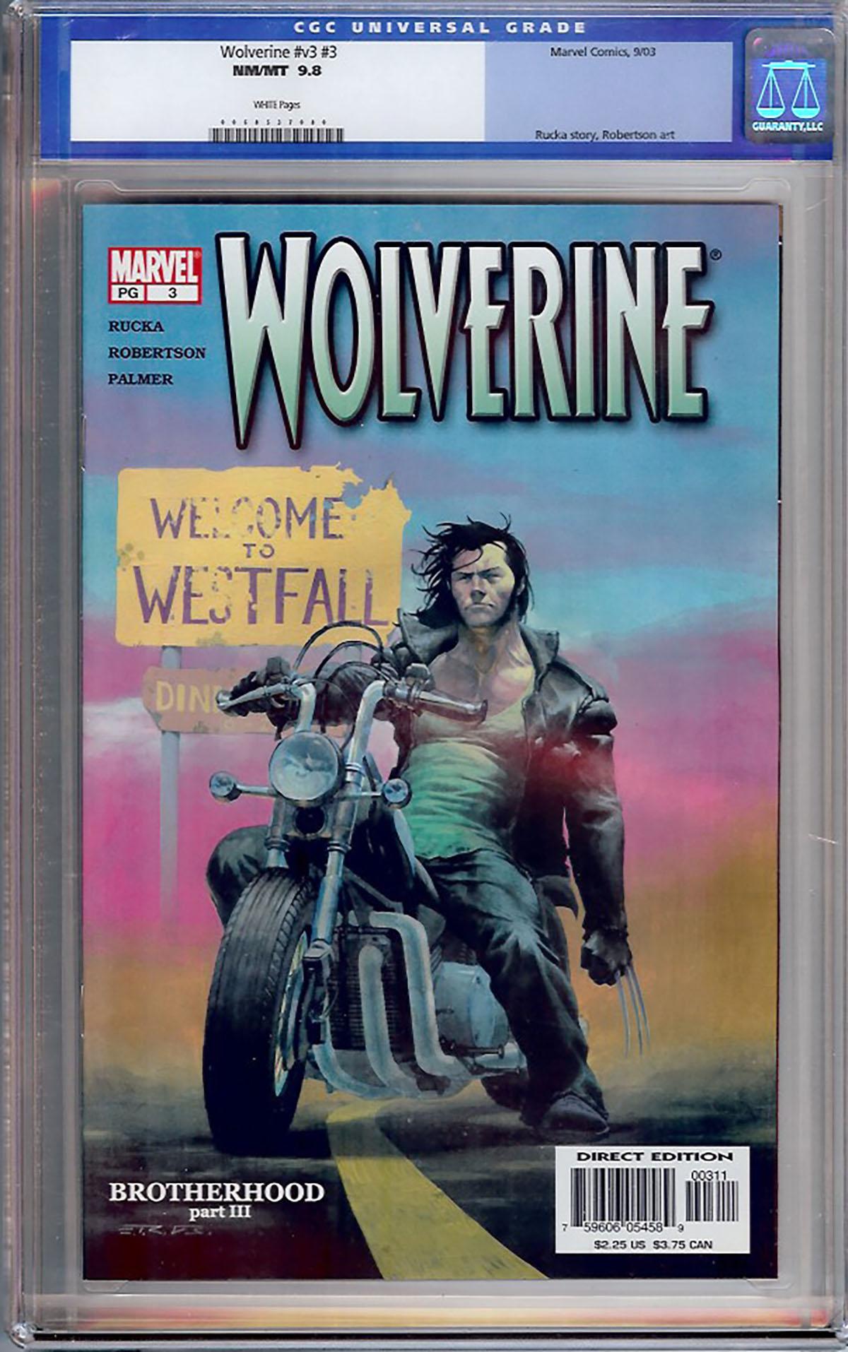 Wolverine Vol 3 #3 CGC 9.8 w