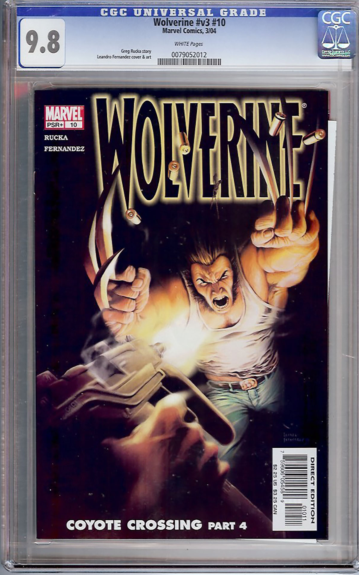Wolverine Vol 3 #10 CGC 9.8 w