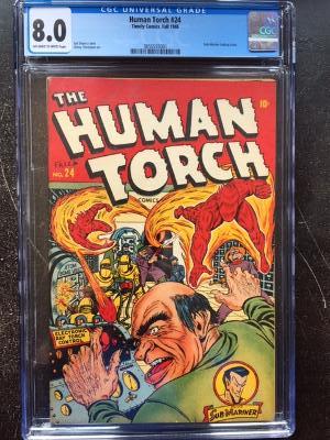 Human Torch #24 CGC 8.0 ow/w