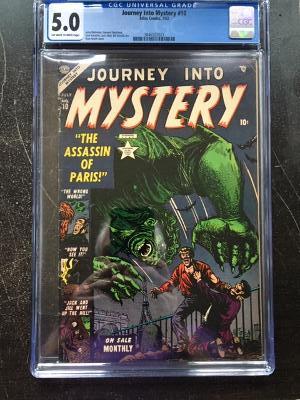 Journey Into Mystery #10 CGC 5.0 ow/w