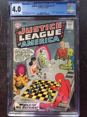 Justice League of America #1 CGC 4.0 ow