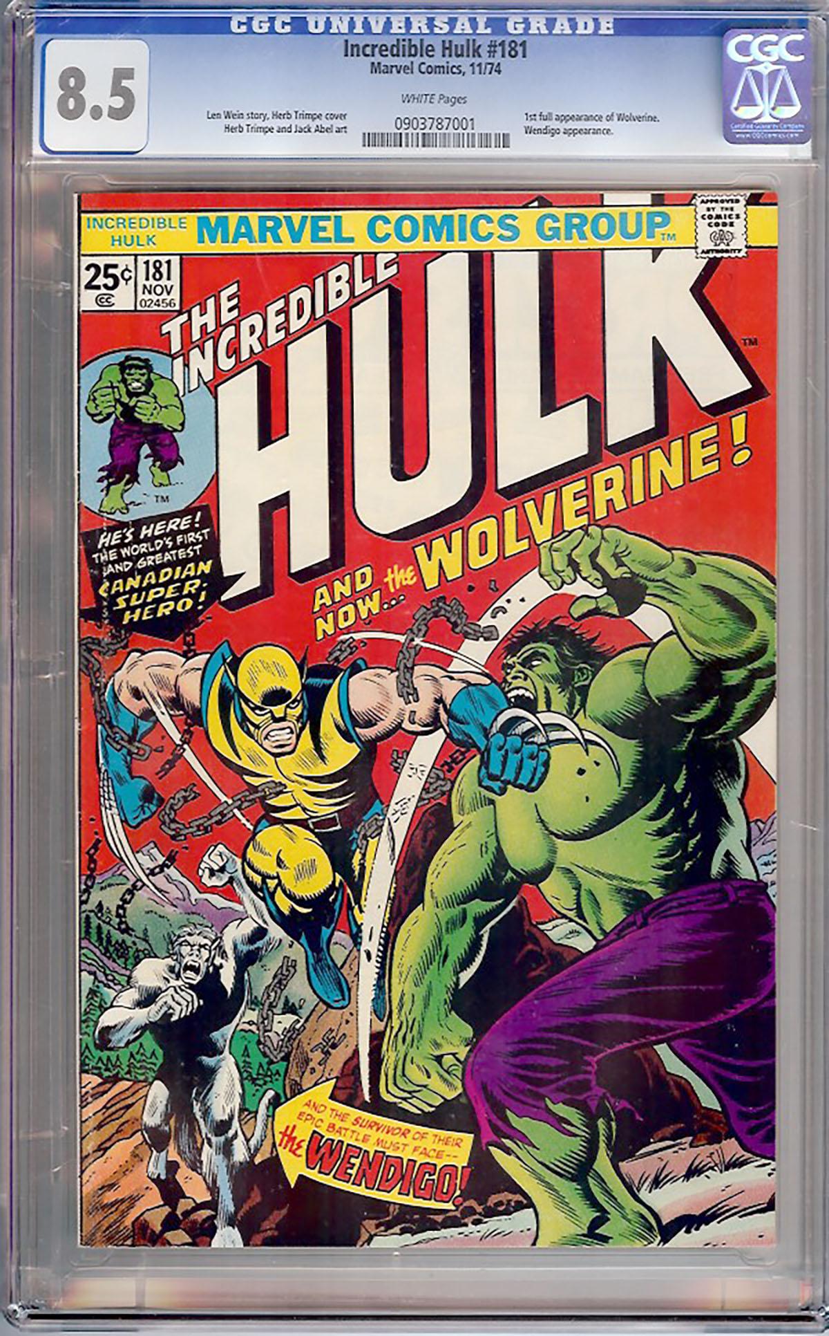 Incredible Hulk #181 CGC 8.5 w