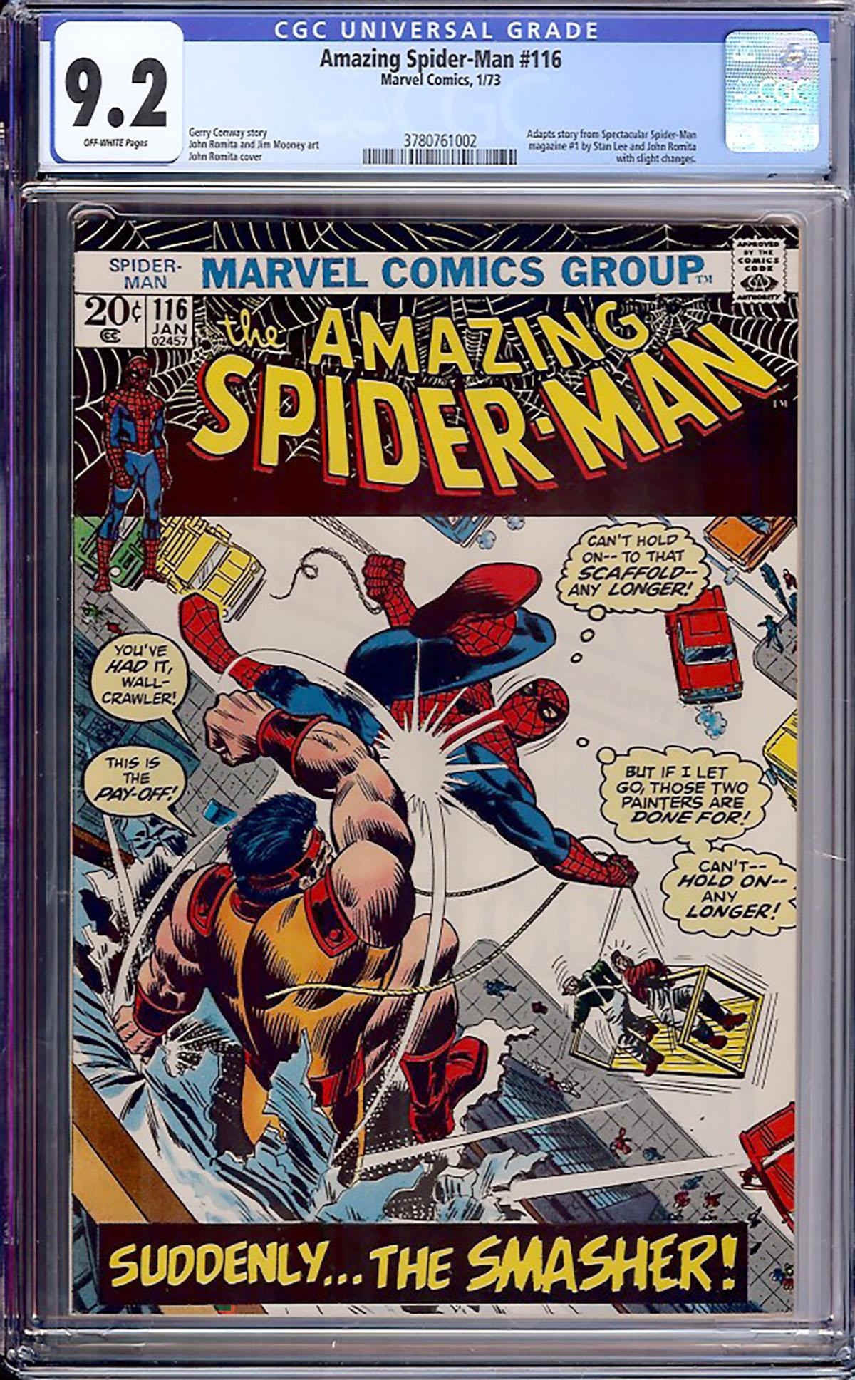 Amazing Spider-Man #116 CGC 9.2 ow