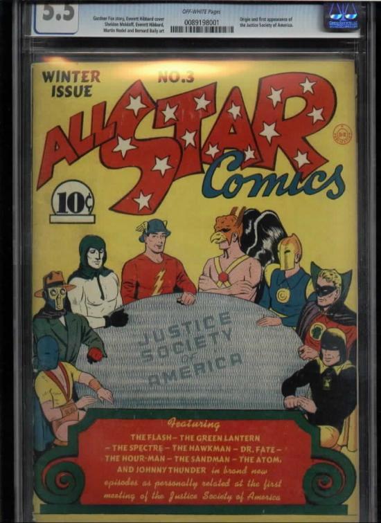 All-Star Comics #3 CGC 5.5 ow/w
