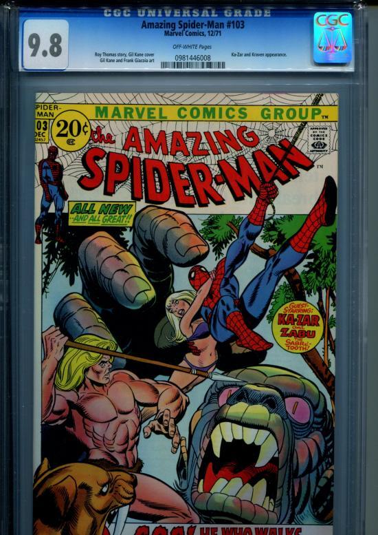 Amazing Spider-Man #103 CGC 9.8 ow