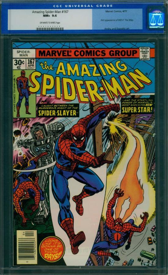 Amazing Spider-Man #167 CGC 9.6 ow/w