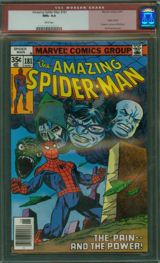 Amazing Spider-Man #181 CGC 9.6 w