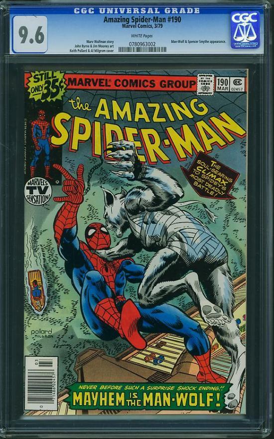 Amazing Spider-Man #190 CGC 9.6 w