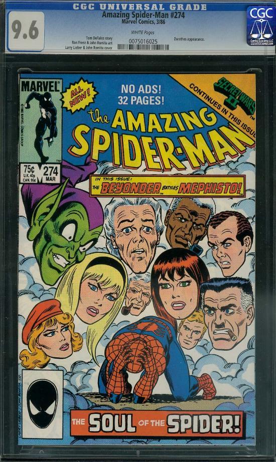 Amazing Spider-Man #274 CGC 9.6 w