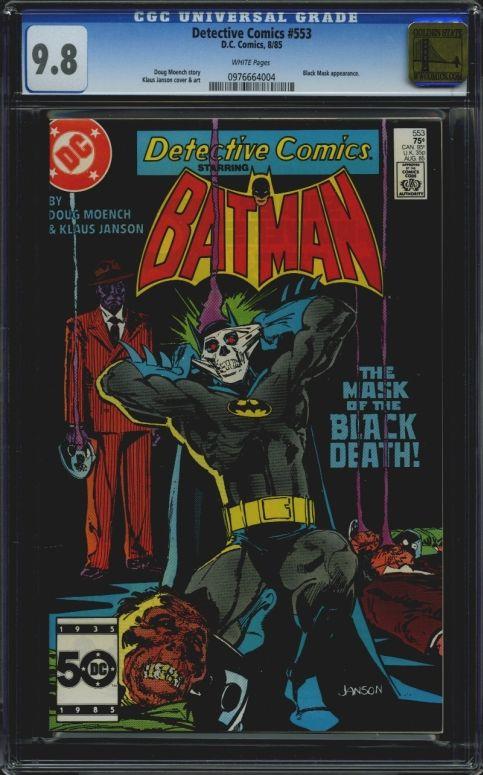 Detective Comics #553 CGC 9.8 w Golden State