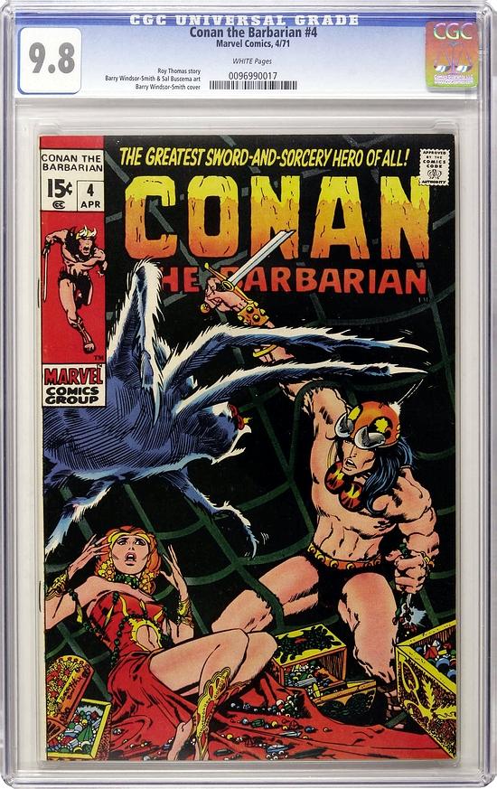 Conan The Barbarian #4 CGC 9.8 w