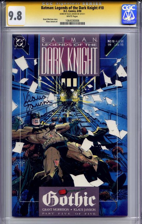 Batman: Legends of the Dark Knight #10 CGC 9.8 w CGC Signature SERIES
