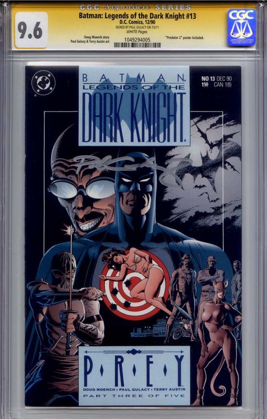 Batman: Legends of the Dark Knight #13 CGC 9.6 w CGC Signature SERIES