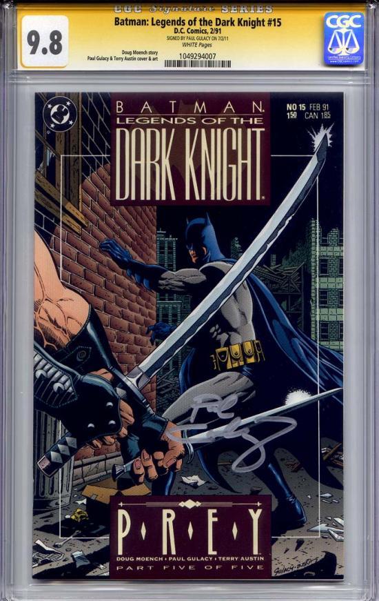 Batman: Legends of the Dark Knight #15 CGC 9.8 w CGC Signature SERIES