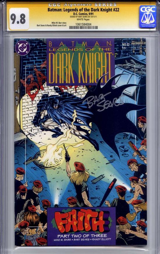 Batman: Legends of the Dark Knight #22 CGC 9.8 w CGC Signature SERIES