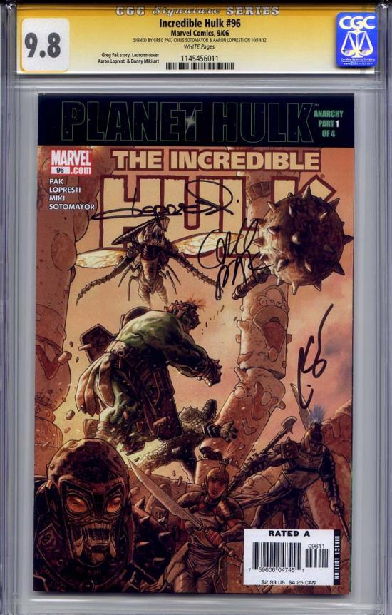 Incredible Hulk #96 CGC 9.8 w CGC Signature SERIES