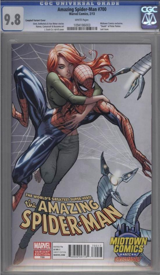 Amazing Spider-Man #700 CGC 9.8 w