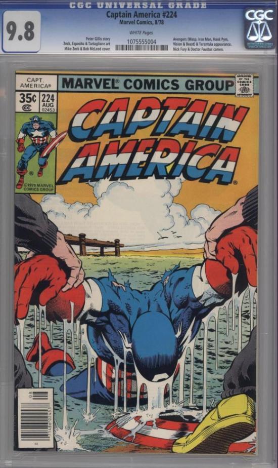 Captain America #224 CGC 9.8 w