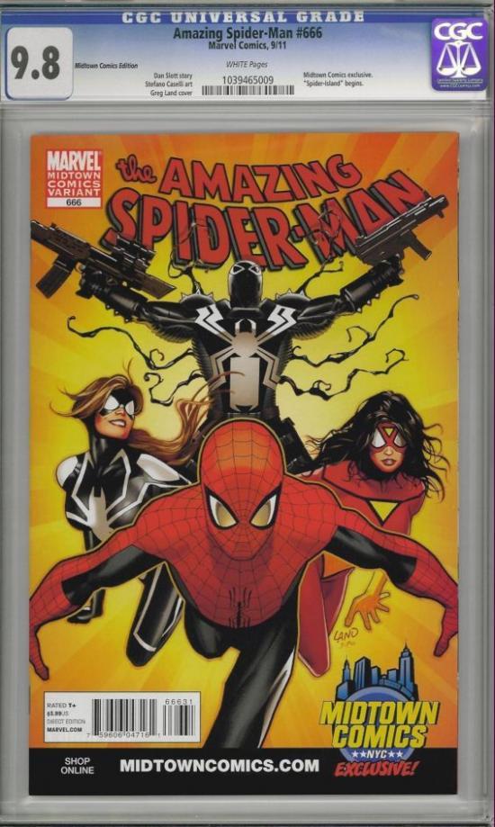 Amazing Spider-Man #666 CGC 9.8 w Variant Edition