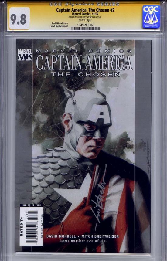 Captain America: The Chosen #2 CGC 9.8 w CGC Signature SERIES