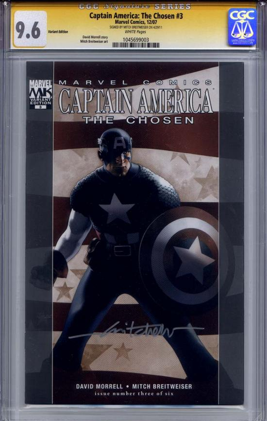 Captain America: The Chosen #3 CGC 9.6 w CGC Signature SERIES