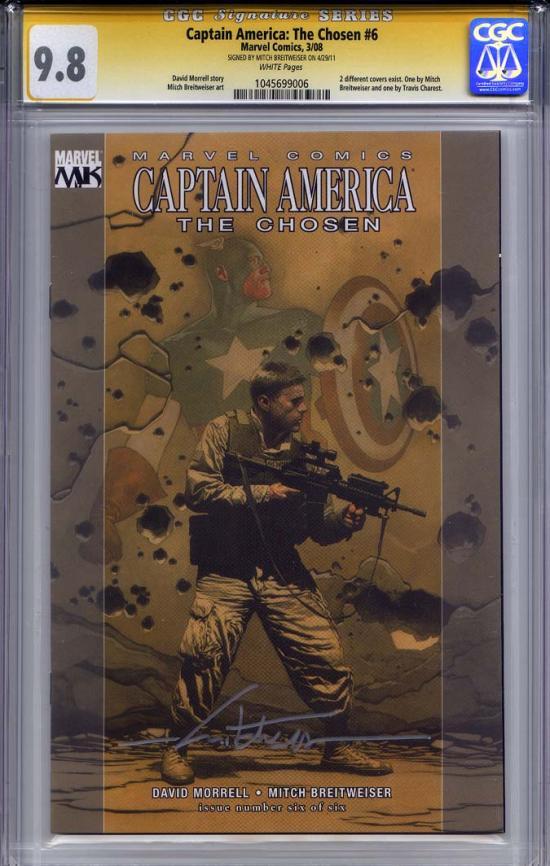 Captain America: The Chosen #6 CGC 9.8 w CGC Signature SERIES