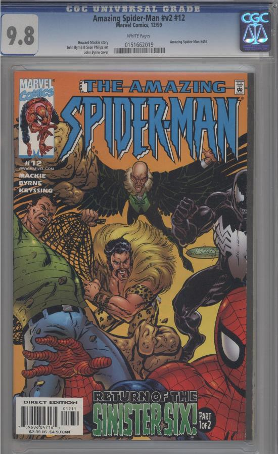 Amazing Spider-Man Vol 2 #12 CGC 9.8 w