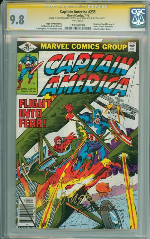 Captain America #235 CGC 9.8 w CGC Signature SERIES