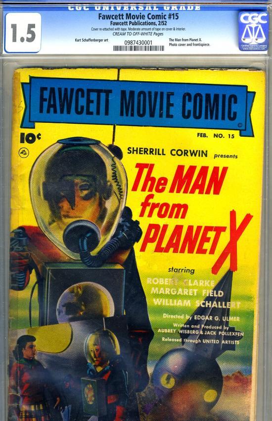Fawcett Movie Comic #15 CGC 1.5 cr/ow