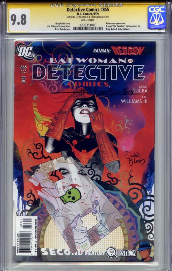 Detective Comics #855 CGC 9.8 w CGC Signature SERIES