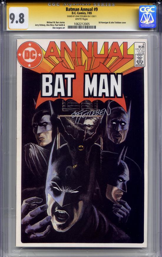 Batman Annual #9 CGC 9.8 w CGC Signature SERIES