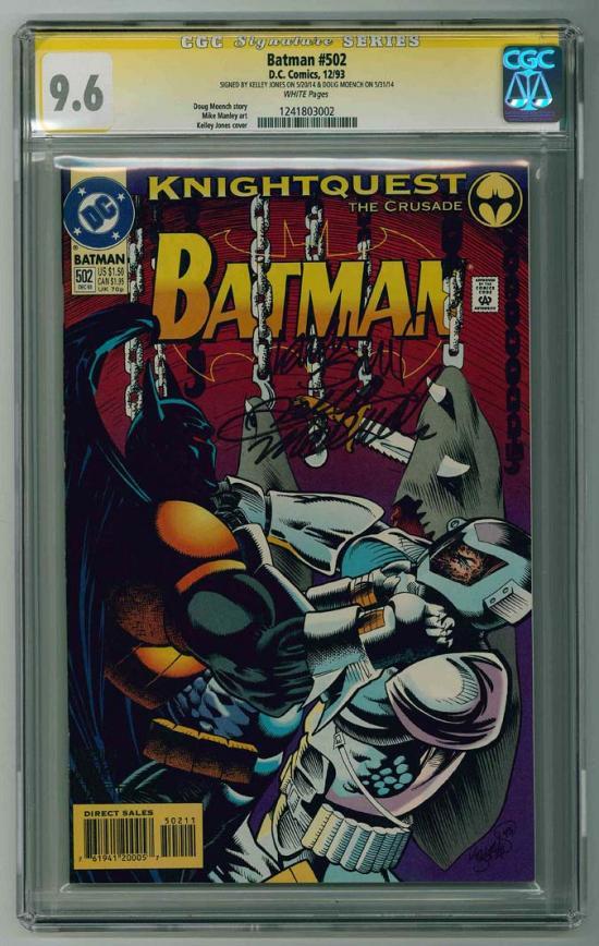 Batman #502 CGC 9.6 w CGC Signature SERIES