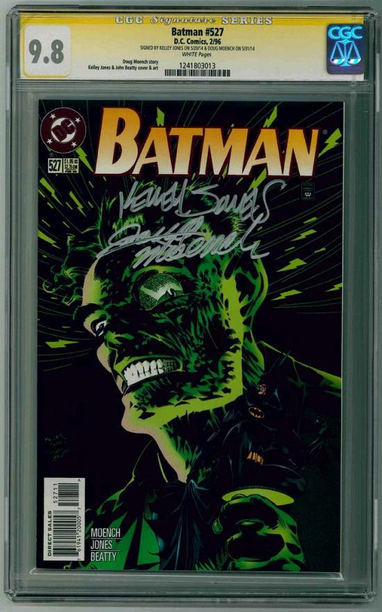 Batman #527 CGC 9.8 w CGC Signature SERIES