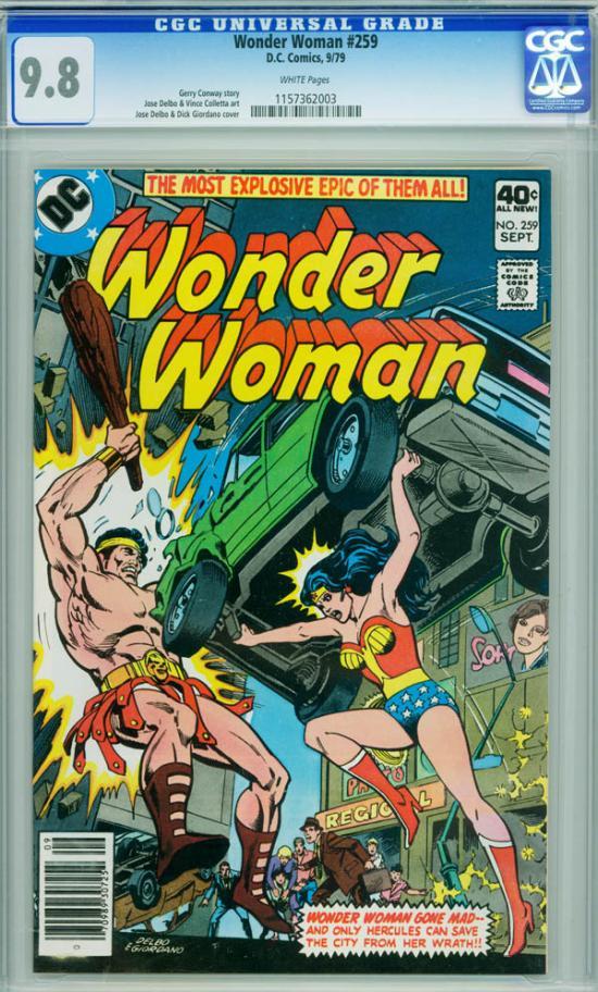 Wonder Woman #259 CGC 9.8 w