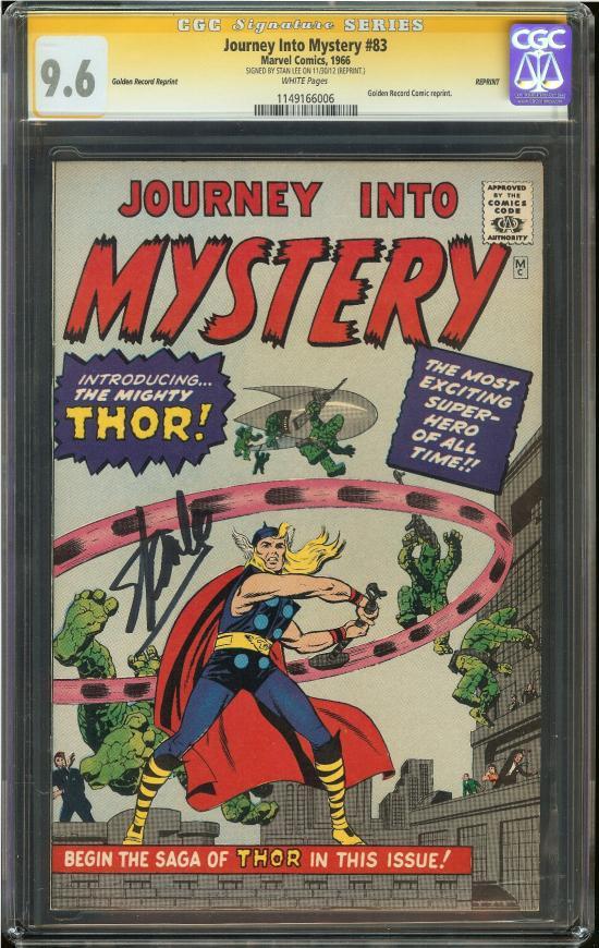 Journey Into Mystery #83 CGC 9.6 w CGC Signature SERIES