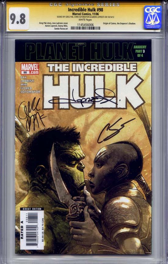 Incredible Hulk #98 CGC 9.8 w CGC Signature SERIES