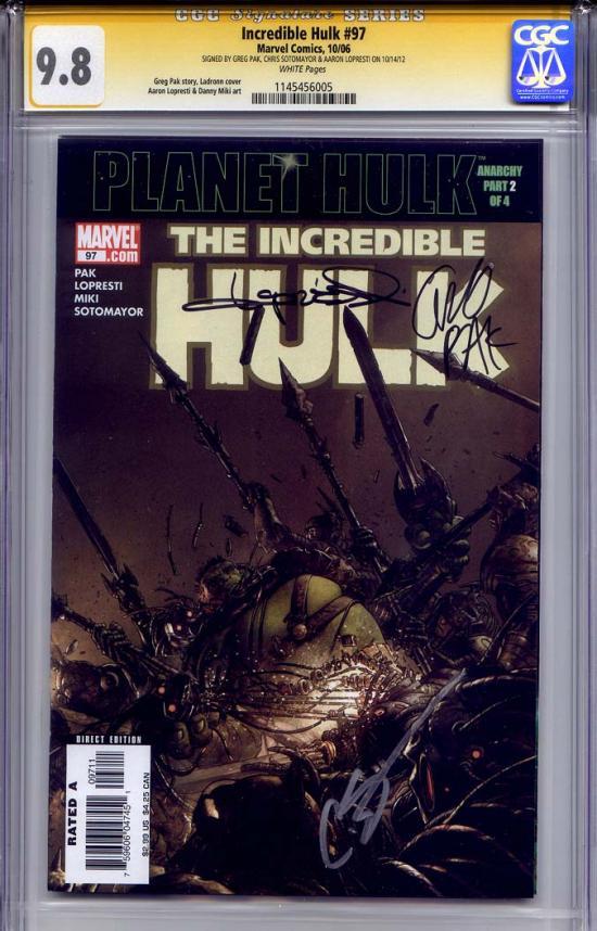 Incredible Hulk #97 CGC 9.8 w CGC Signature SERIES