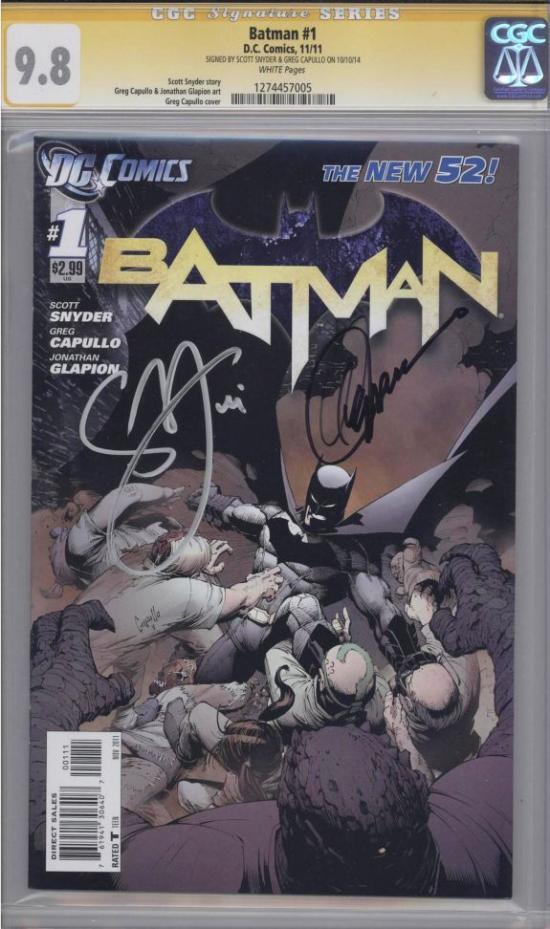 Batman #1 CGC 9.8 w CGC Signature SERIES