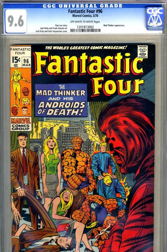 Fantastic Four #96 CGC 9.6 ow/w