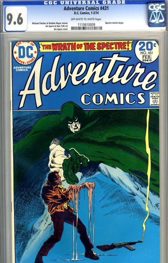 Adventure Comics #431 CGC 9.6 ow/w