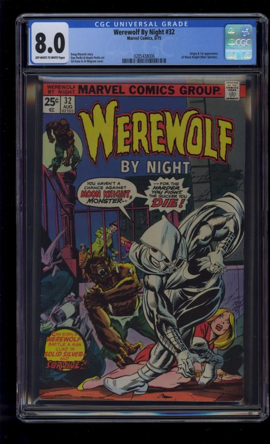 Werewolf By Night #32 CGC 8.0 ow/w