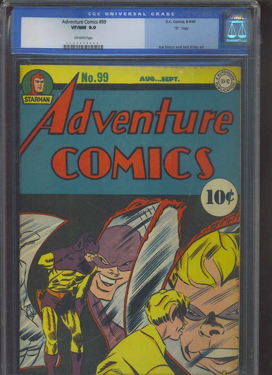 """Adventure Comics #99 CGC 9.0 ow Davis Crippen (""""D"""" Copy)"""