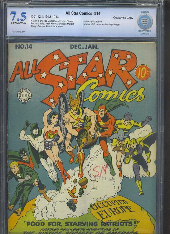 All Star Comics #14 CBCS 7.5 ow/w