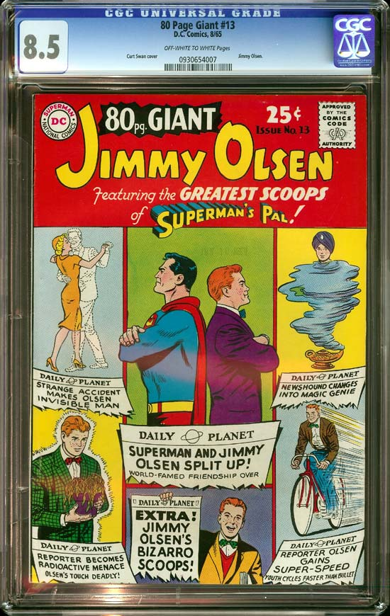 80 Page Giant #13 CGC 8.5 ow/w