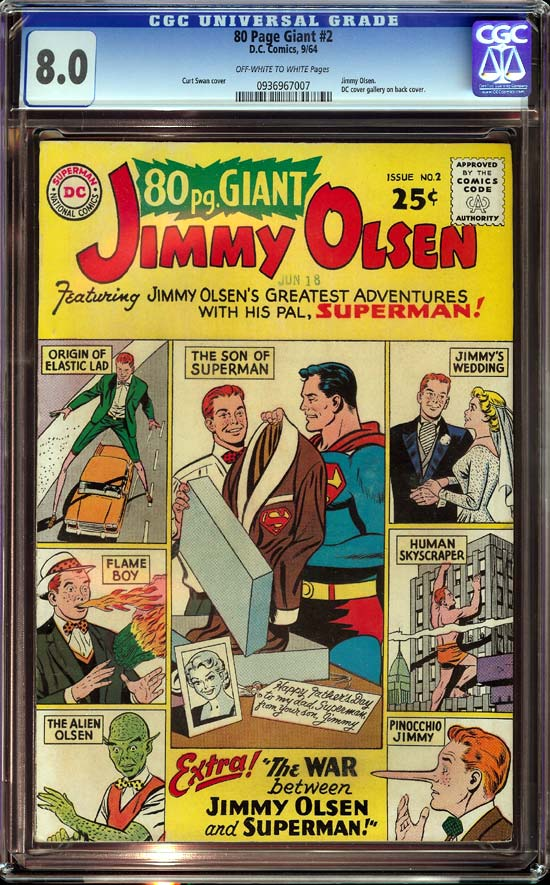 80 Page Giant #2 CGC 8.0 ow/w