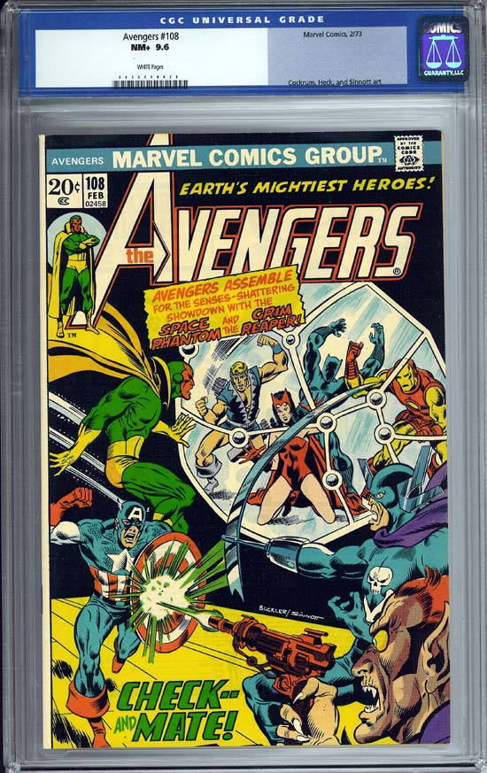 Avengers #108 CGC 9.6 w