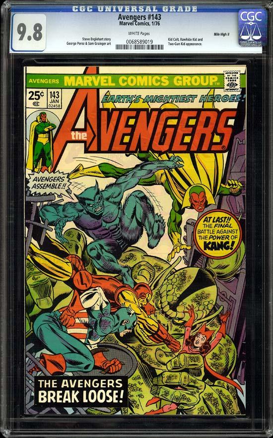 Avengers #143 CGC 9.8 w Mile High II