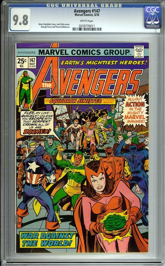 Avengers #147 CGC 9.8 w