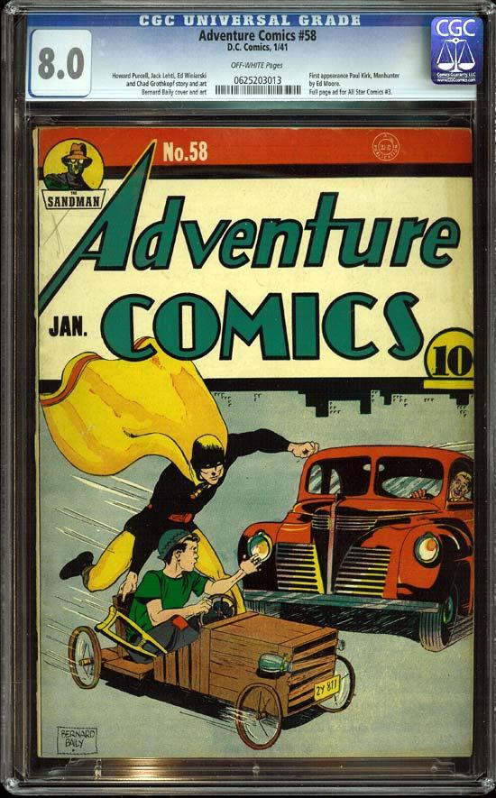 Adventure Comics #58 CGC 8.0ow