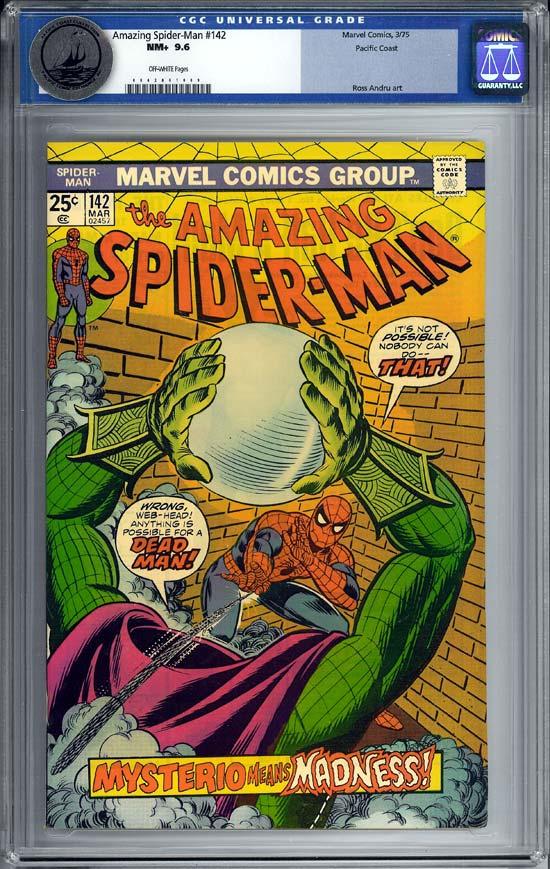 Amazing Spider-Man #142 CGC 9.6 ow Pacific Coast